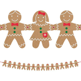Felt Gingerbread Garland