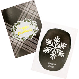 Xmas Cards - Happy Xmas / Snowflakes