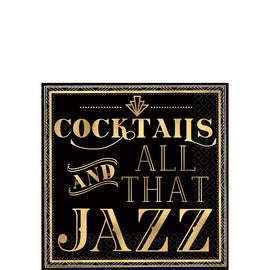 Cocktails And All That Jazz Beverage Napkins