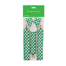Shamrock Suspenders adjustable; one size fits most