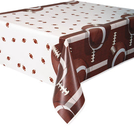 "Football Party Rectangular Plastic Table Cover, 54""x84"""