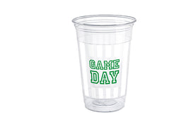 Game Day Football 16oz Plastic Party Cups, 8ct
