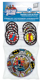 Justice League Heroes Unite (tm) Cupcake Cases & Picks Combo Pack