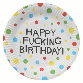 "7"" Plate - X-Rated Birthday"