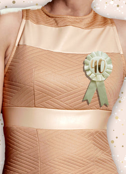Rosette - Rose Gold 40Th Birthday