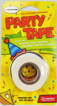 "1"" Party Tape - Hang anything anywhere! 30' Roll by Mavalus"