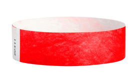Wrist Ticket - 100Ct Red 3/4""