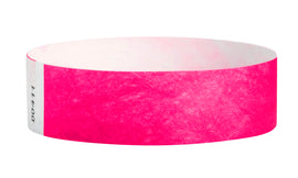Wrist Ticket - 100Ct Pink 3/4""