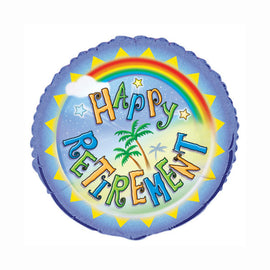 "Happy Retirement Round Foil Balloon 18"", Packaged"