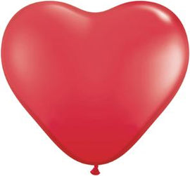 "Balloon - 6"" Heart Red 100Ct"