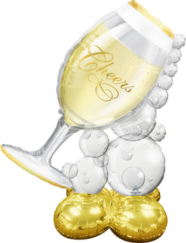 Bubbly Wine Glass AirLoonz Foil Balloon