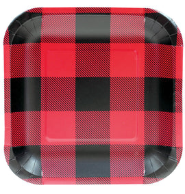 "7"" Plate - Sqr Buffalo Plaid"