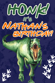 Customizable Yard Sign / Lawn Sign Birthday Dinosaur