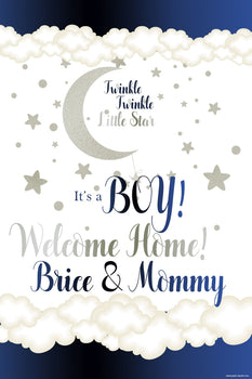 Customizable Yard Sign / Lawn Sign Baby Shower Twinkle Baby Boy
