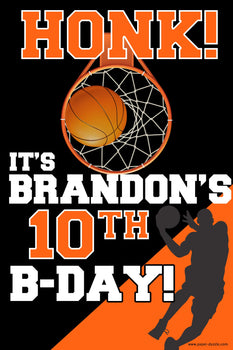 Customizable Yard Sign / Lawn Sign Birthday Basketball