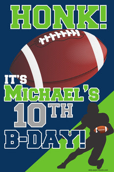 Customizable Yard Sign / Lawn Sign Birthday Football