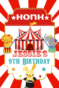 Customizable Yard Sign / Lawn Sign Birthday Circus