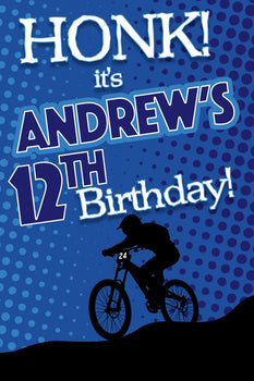 Customizable Yard Sign / Lawn Sign Birthday Bmx Bike