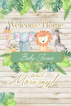 Customizable Yard Sign / Lawn Sign Baby Shower Jungle Animal