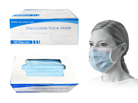 Mask - PPE 50Ct Disp Blue
