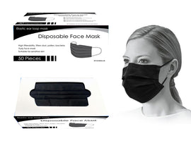 Mask - PPE 50Ct Disp Black