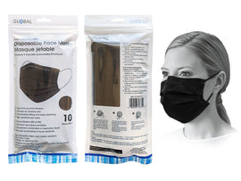 Mask - PPE 10Ct Disp Black