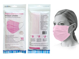 Mask - PPE 10Ct Disp Pink