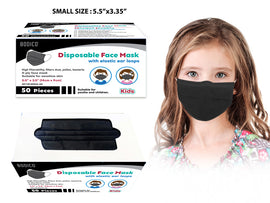 Mask - PPE 50Ct Disp Black Small