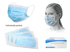 Mask - PPE 50Ct Disp Blue Wrapped