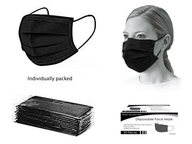 Mask - PPE 50Ct Disp Black Wrapped