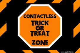 Yard Sign - Generic Contactless Trick Or Treat