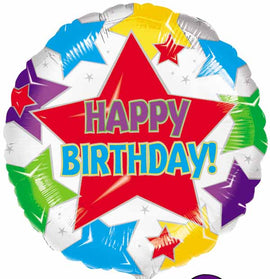 Foil Balloon - Star Birthday