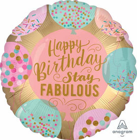 Foil Balloon - Stay Fabulous Birthday