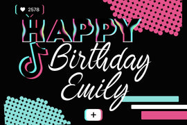 Customizable Yard Sign / Lawn Sign Birthday - Tik Tok Inspired Style