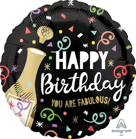 Foil Balloon - Happy Birthday Bubbly