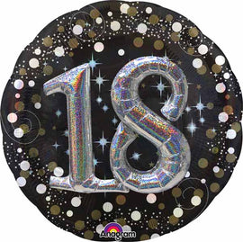 Foil Balloon - Sparkling Birthday 18 Multi-Balloon