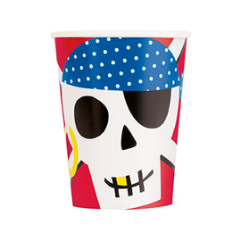 Ahoy Pirate 9oz Paper Cups, 8ct