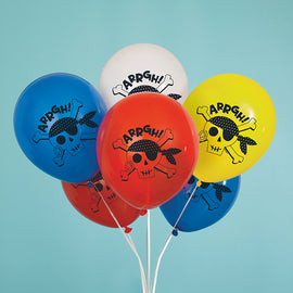 "Ahoy Pirate 12"" Latex Balloons, 8ct"