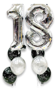 Milestone Birthday Helium Balloon Bouquet (2 Numbers)