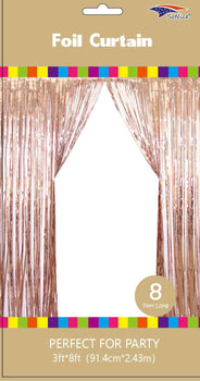 Foil Backdrop Curtain - 3' X 8' Champagne