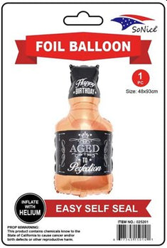 Aged to Perfection Bottle Foil Supershape Balloon