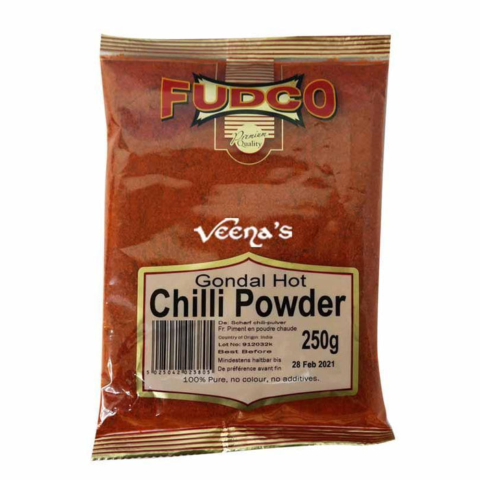 Fudco Gondal Hot Chilli Powder 250g - veenas.com