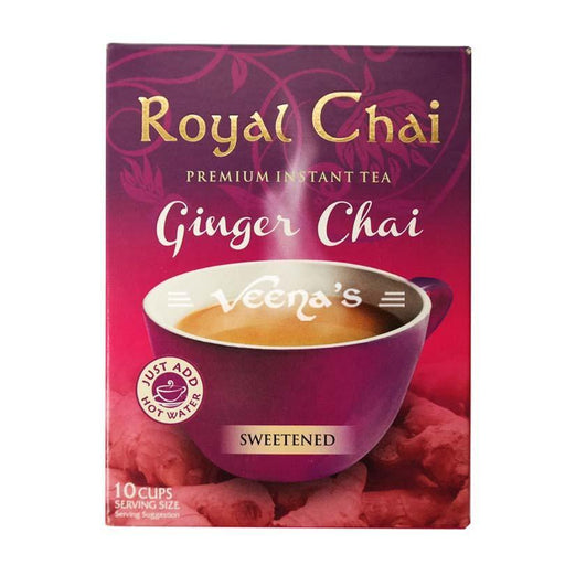 Royal Chai Ginger Tea Sweetened 220g - veenas.com