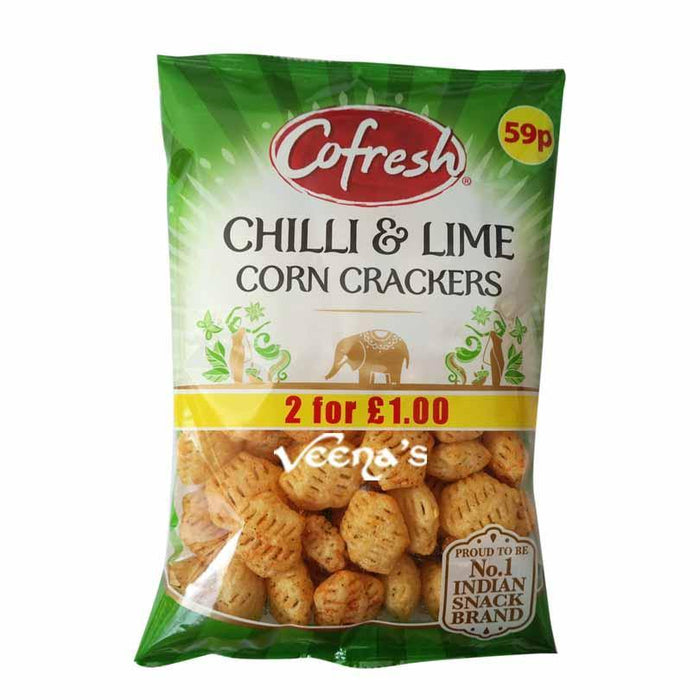 Cofresh Chilli Lime Corn Crackers 70g - veenas.com
