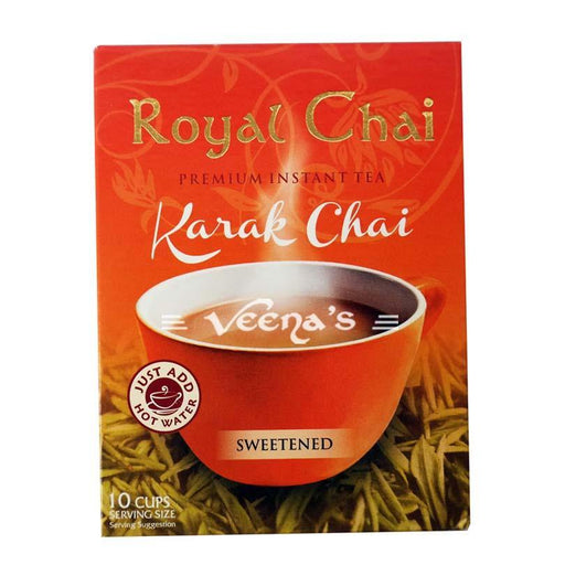 Royal Chai Karak Sweetened 10's 220g - veenas.com