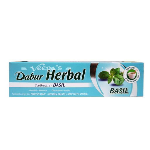 Dabur Herbal Toothpaste with Basil 100ML - veenas.com