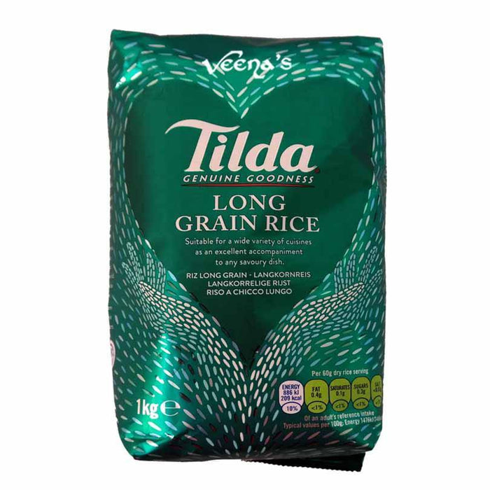 Tilda Long Grain Rice 1kg - veenas.com