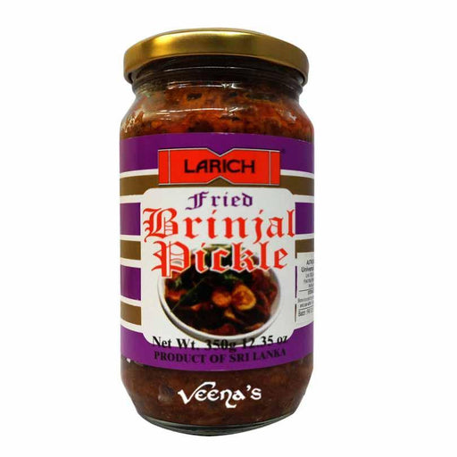 Larich Fried Brinjal Curry 375g - veenas.com