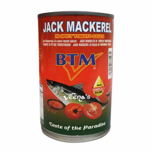 BTM Jack Mackerel In Spicy Tomato Sauce (Tin) 425g - veenas.com