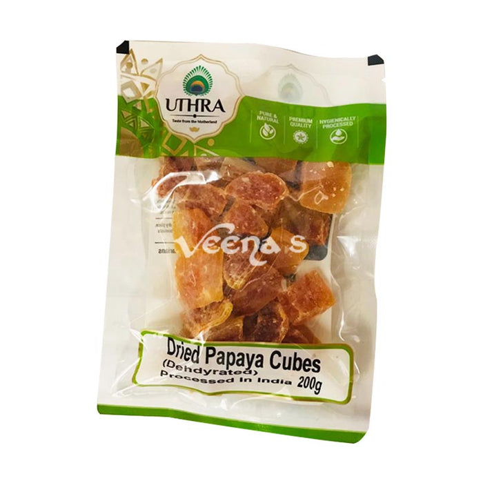 Uthra Dried Papaya Cubes